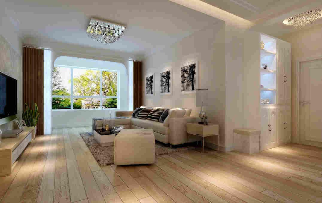 客厅半圆窗的楼房装修效果图_欧式客厅装修效果图片小
