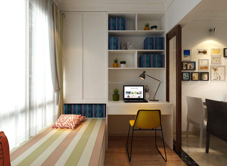 装修效果图 最新小书房榻榻米效果图,教你成为不一样的书房空间!