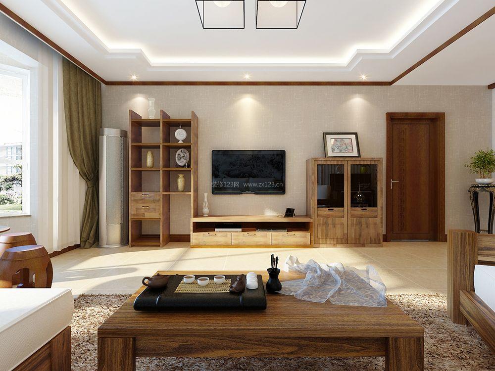 19图片】中式客厅装修效果图
