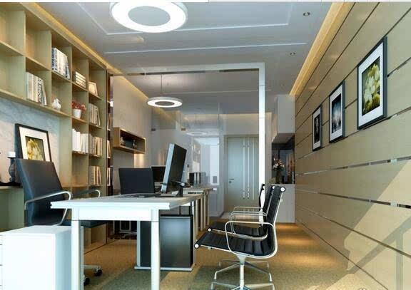 小型双人办公室装修效果图 30平方米二人办公空间合理布局风水设计图