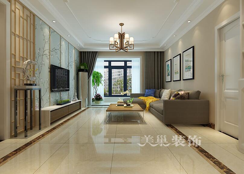 三室一厅装修设计图简约风格_现代时尚格调别墅中空客厅装修效果图