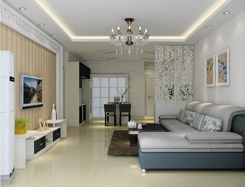 正方形客厅的装修设计_客厅装修隔断设计_客厅装修图