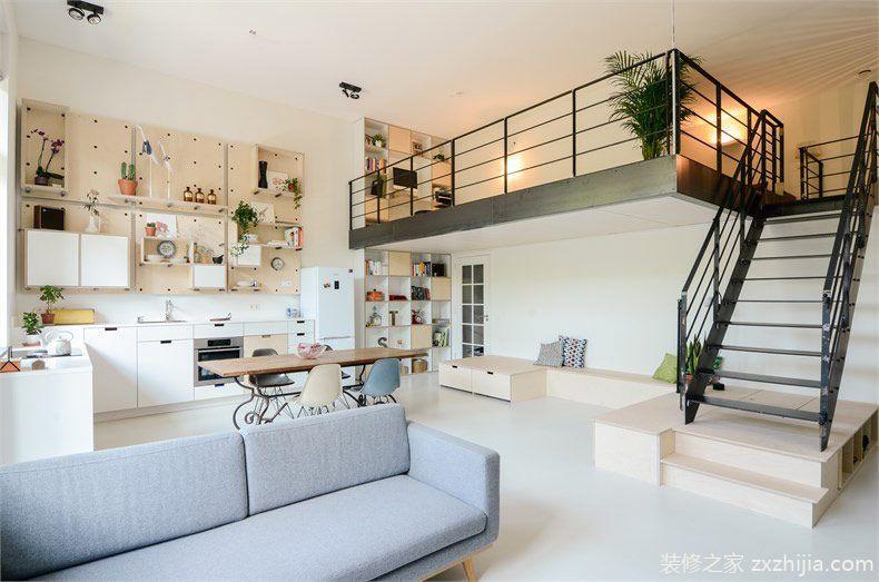 50平方的loft公寓装修效果图_30平方公寓装修图片_40平方loft装修效果