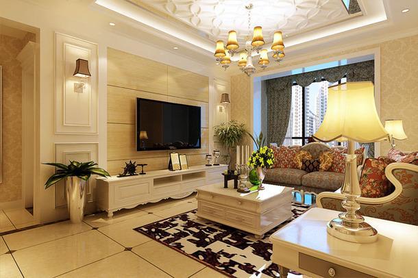 最新欧式客厅主题墙装修效果图,欧式客厅装修分析